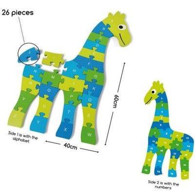 Pussel - giraff - 1-26 och A-Z