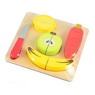 Leksaksmat - Delbar mat på bricka - frukt & grönt
