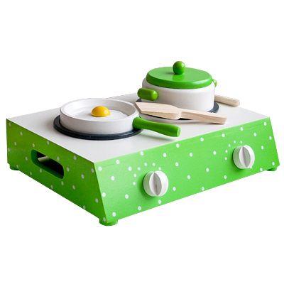 Bordsspis - grön med prickar - Magni
