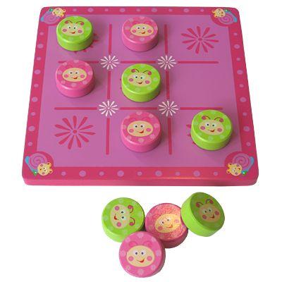 Tre i rad - rosa och grön - Magni