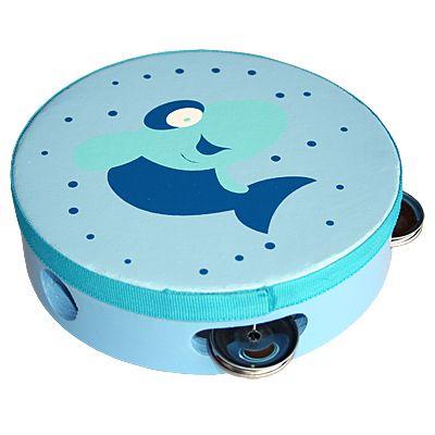 Tamburin - blå med haj - Magni