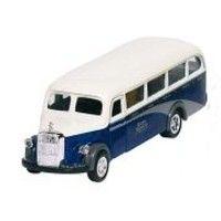Bil i metall - Mercedes Benz, omnibus - blå