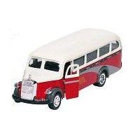 Bil i metall - Mercedes Benz, omnibus - röd
