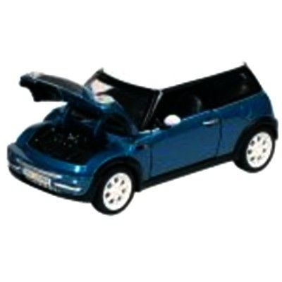 Bil i metall - Mini Cooper - blå