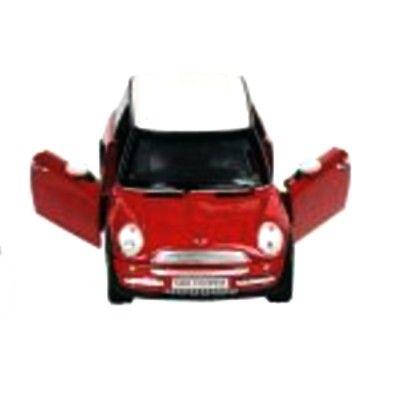 Bil i metall - Mini Cooper - röd