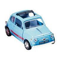 Bil i metall - Fiat Sport 500 - ljusblå