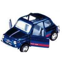 Bil i metall - Fiat Sport 500 - mörkblå