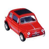 Bil i metall - Fiat Sport 500 - röd