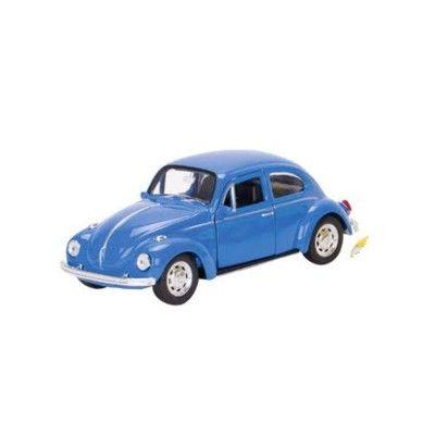 Bil i metall - Volkswagen classical Beetle - blå