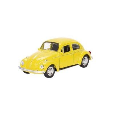 Bil i metall - Volkswagen classical Beetle - gul