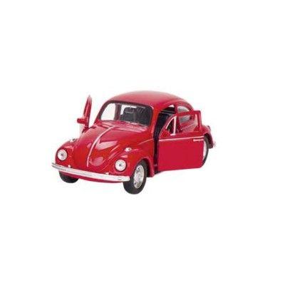 Bil i metall - Volkswagen classical Beetle - röd