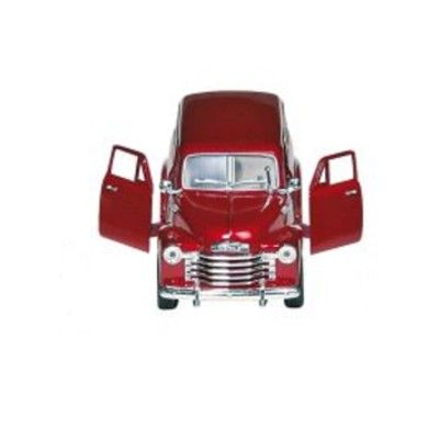 Bil i metall - Chevrolet Suburban - röd