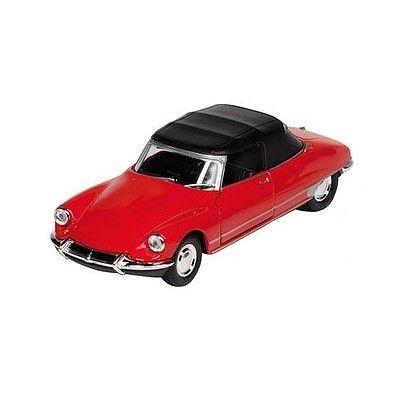 Bil i metall - Citroen DS19 - röd