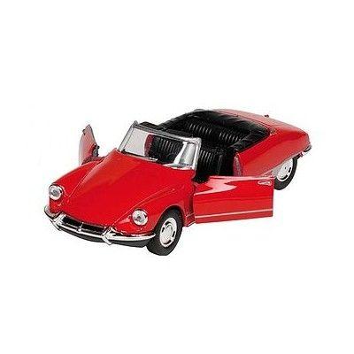 Bil i metall - Citroen DS19 - cabriolet - röd