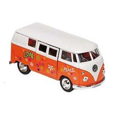 Bil i metall - VW Classical Bus - hippie, orange