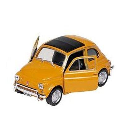 Bil i metall - Fiat Nuova 500 - gul