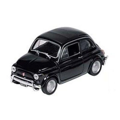 Bil i metall - Fiat Nuova 500 - svart