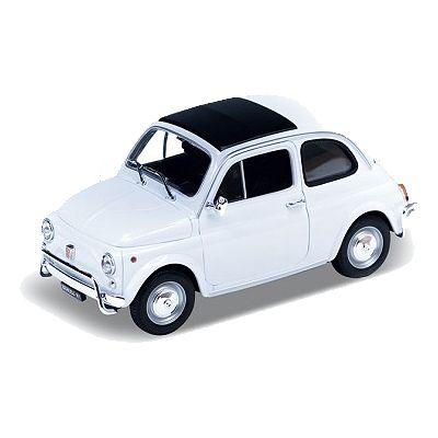 Bil i metall - Fiat Nuova 500 - vit