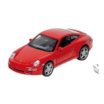 Bil i metall - Porsche - röd