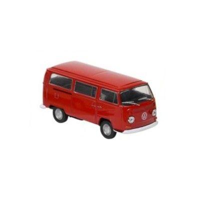 Bil i metall - Volkswagen bus T2 - röd
