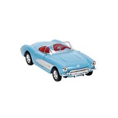 Bil i metall - Chevrolet Corvette - blå utan tak (1957)