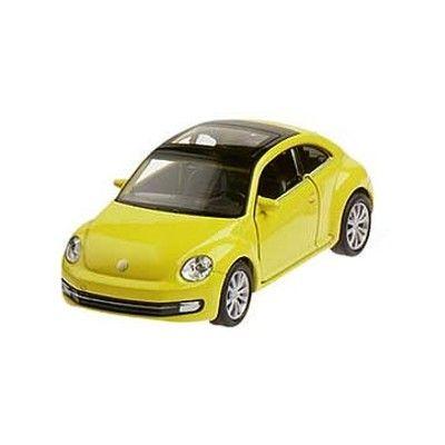 Bil i metall - VW New Beetle - gul