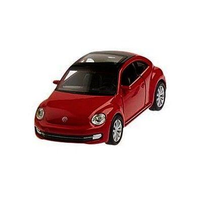 Bil i metall - VW New Beetle - röd
