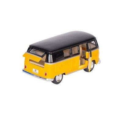 Bil i metall - Volkswagen Classical Bus (1962) - gul