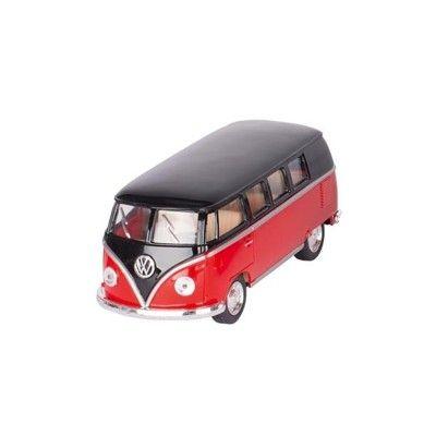 Bil i metall - Volkswagen Classical Bus (1962) - röd