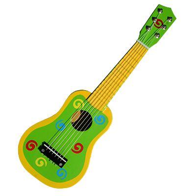 Gitarr - grön med snurror - Magni