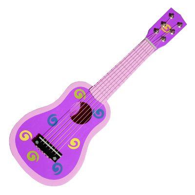 Gitarr - lila med snurror - Magni