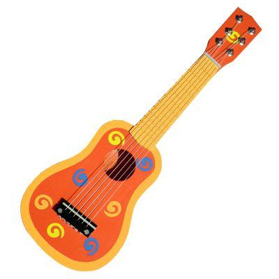 Gitarr - orange med snurror - Magni