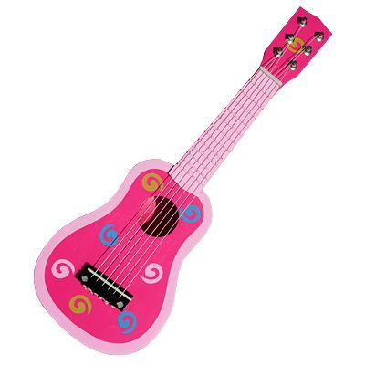 Gitarr - rosa med snurror - Magni