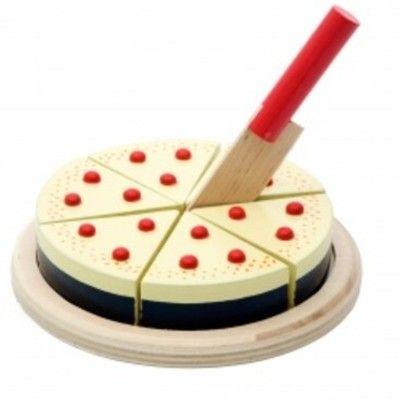 Leksaksmat - Tårta i trä, vanilj - Magni