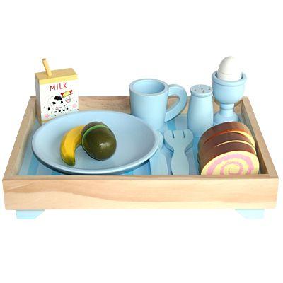 Leksaksmat - Frukostbricka - blå - Magni