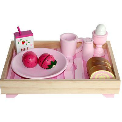 Leksaksmat - Frukostbricka - rosa - Magni