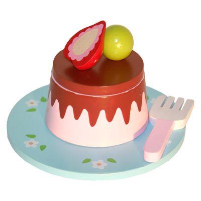 Bakelse - jordgubb med choklad och bär på