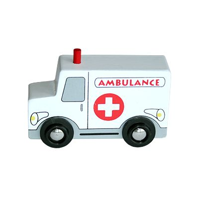 Träbil - ambulans