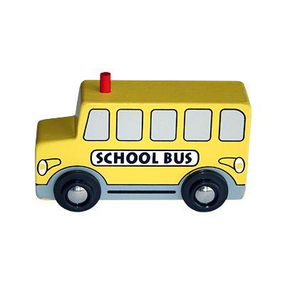 Träbil - skolbuss