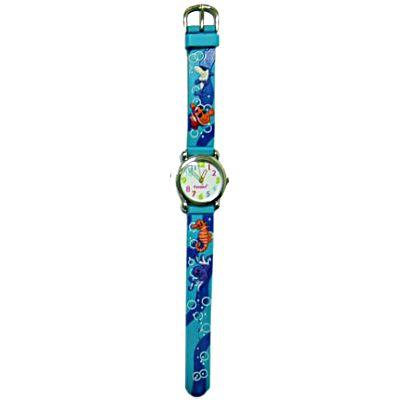 Ambandsklocka - blå med fiskar