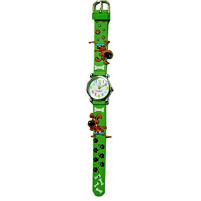 Ambandsklocka - grön med hundar