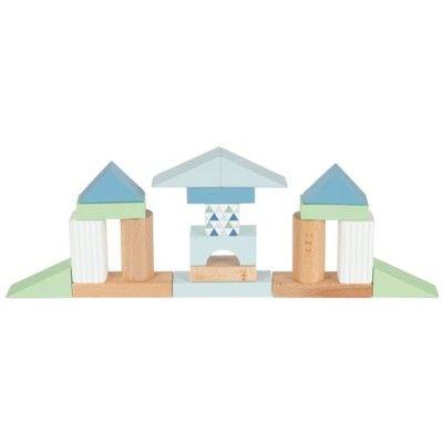Byggklossar i trä - Lifestyle Aqua- 50 st - Goki
