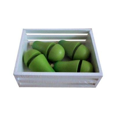 Leksaksmat - Päron med kardborre i trälåda - Magni