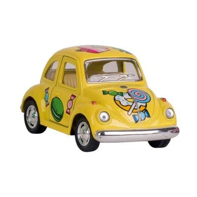 Bil i metall - Volkswagen Classical Beetle (1967) - Candy - gul