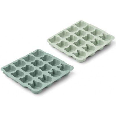 Isbitar - form i silikon - Sonny ice cube tray - 2 pack, Mint mix - Liewood