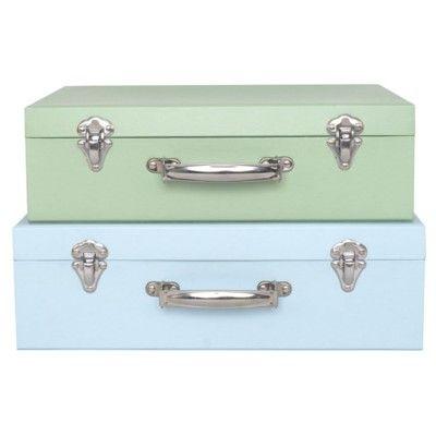 Koffert, blå - set med 2 st - Jabadabado