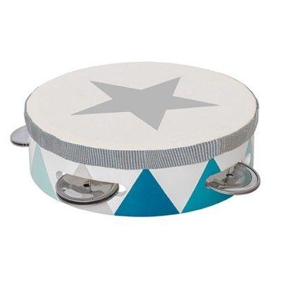 Tamburin trumma - blå - Jabadabado