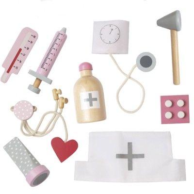 Doktorsväska med innehåll, rosa - ambulans - Jabadabado