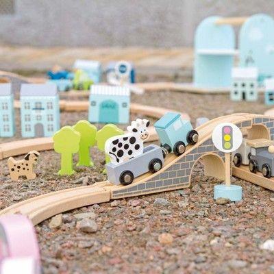 Tågbana, ljusblå - Jabadabado