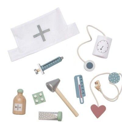 Doktorsväska med innehåll, silver - ambulans - Jabadabado